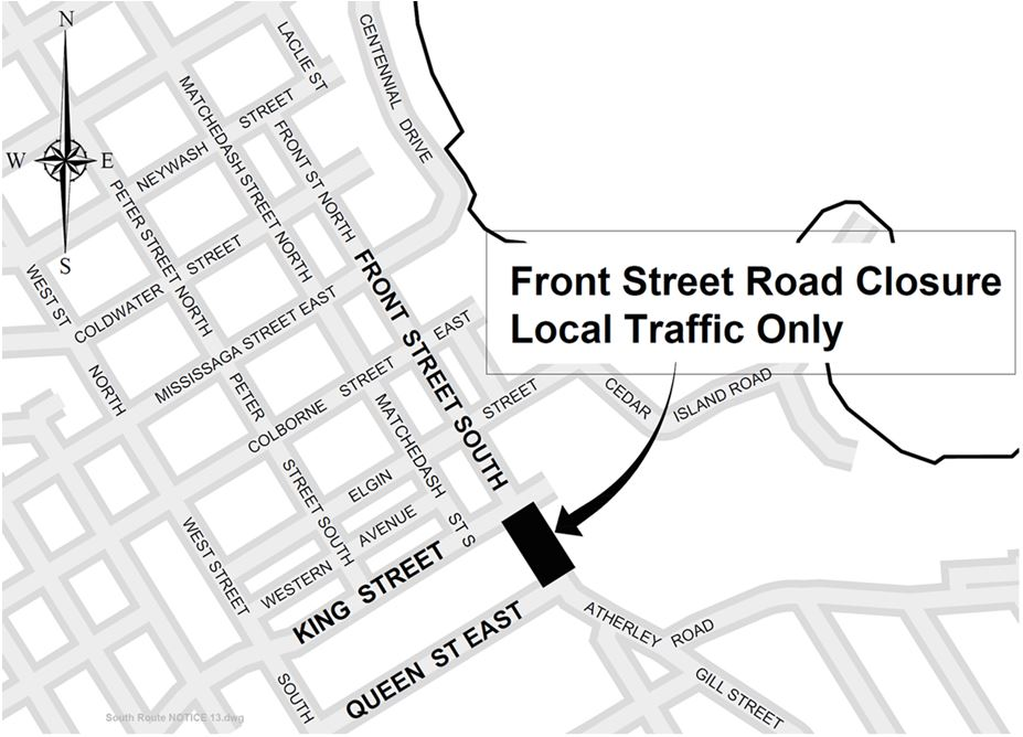Front Street Road Closure Map