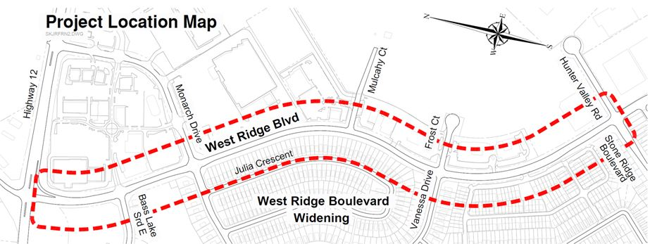 Map of West Ridge Boulevard Project Limits