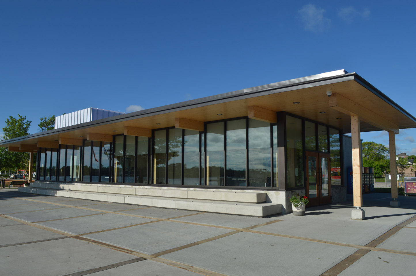 View of Port of Orillia Building from Outside