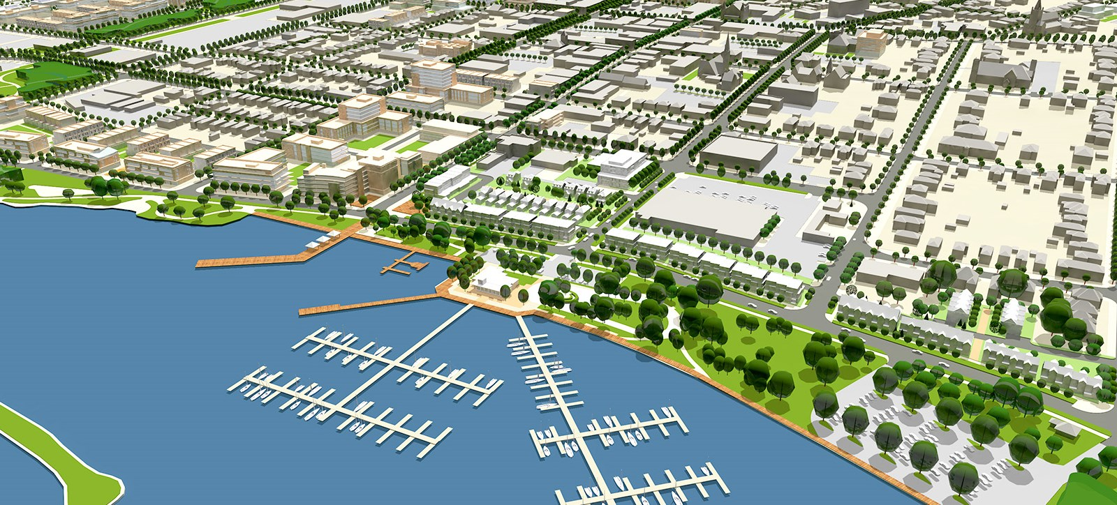 Rendering of the Waterfront preferred development