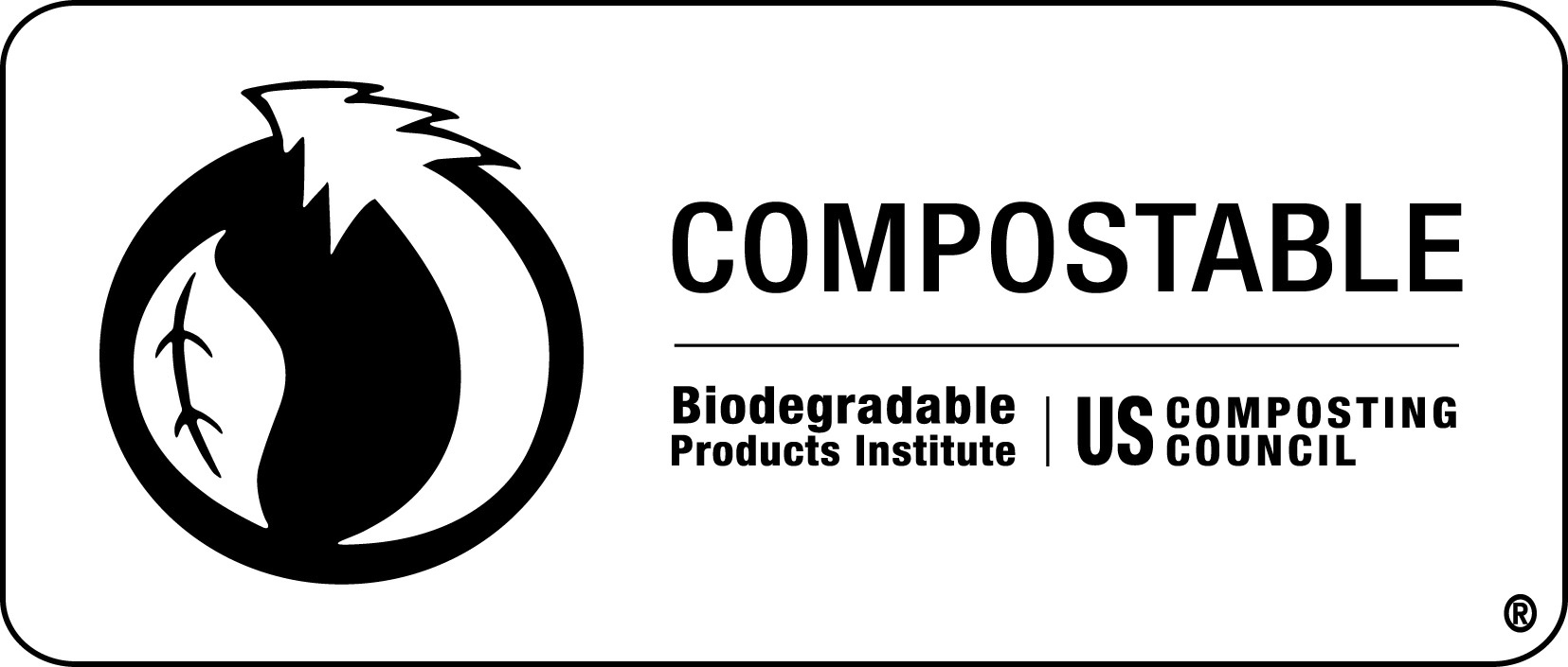 Label that identifies bags as compostable