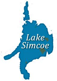 Map outline of Lake Simcoe