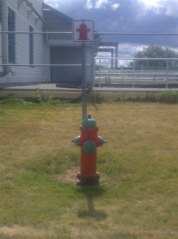 Image of red fire hydrant