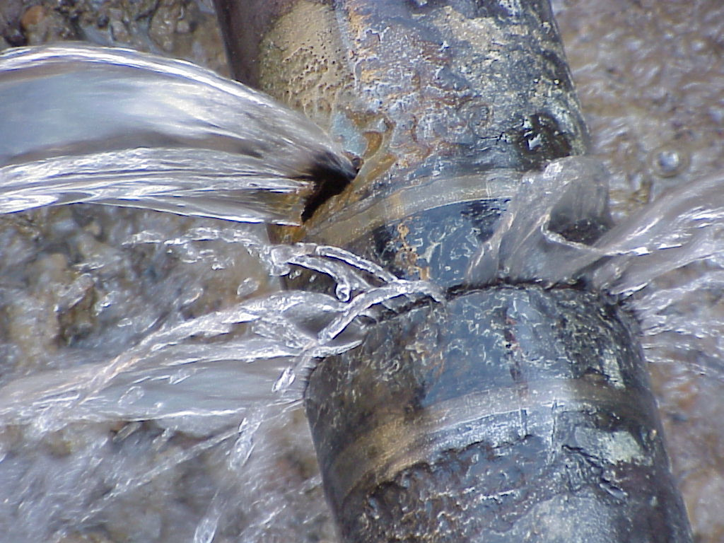 Image of burst pipe