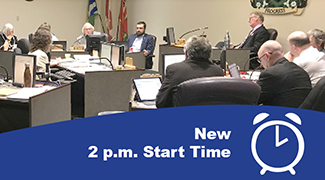 New 2 p.m. Start Time to Council Meetings