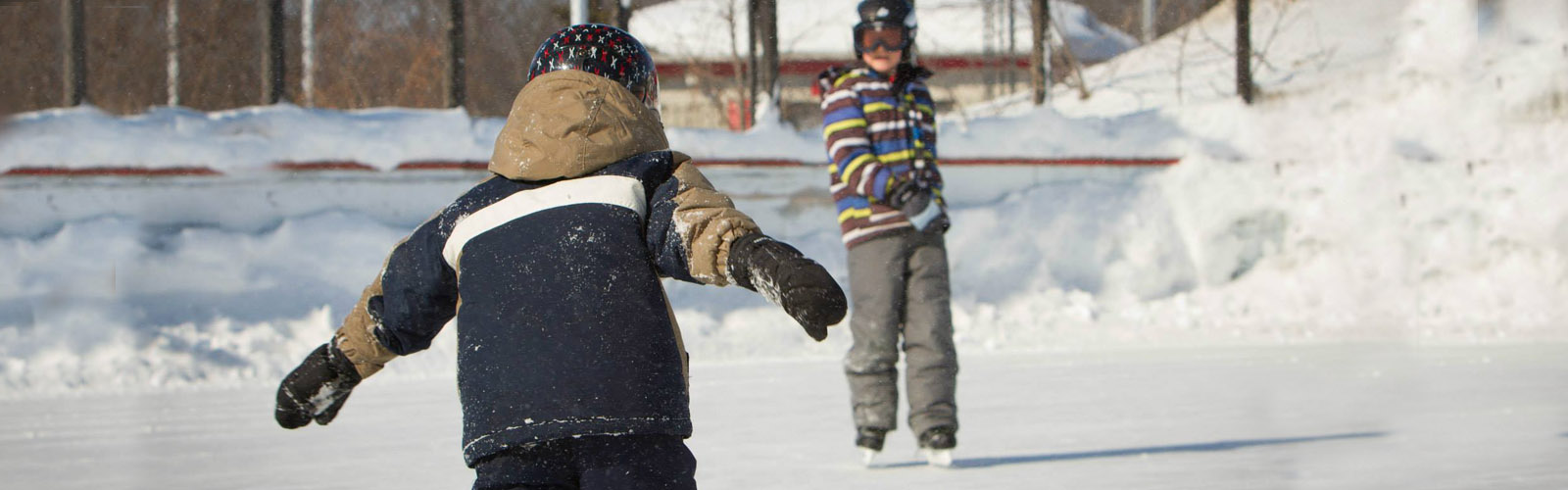 Boys on outdoor rink