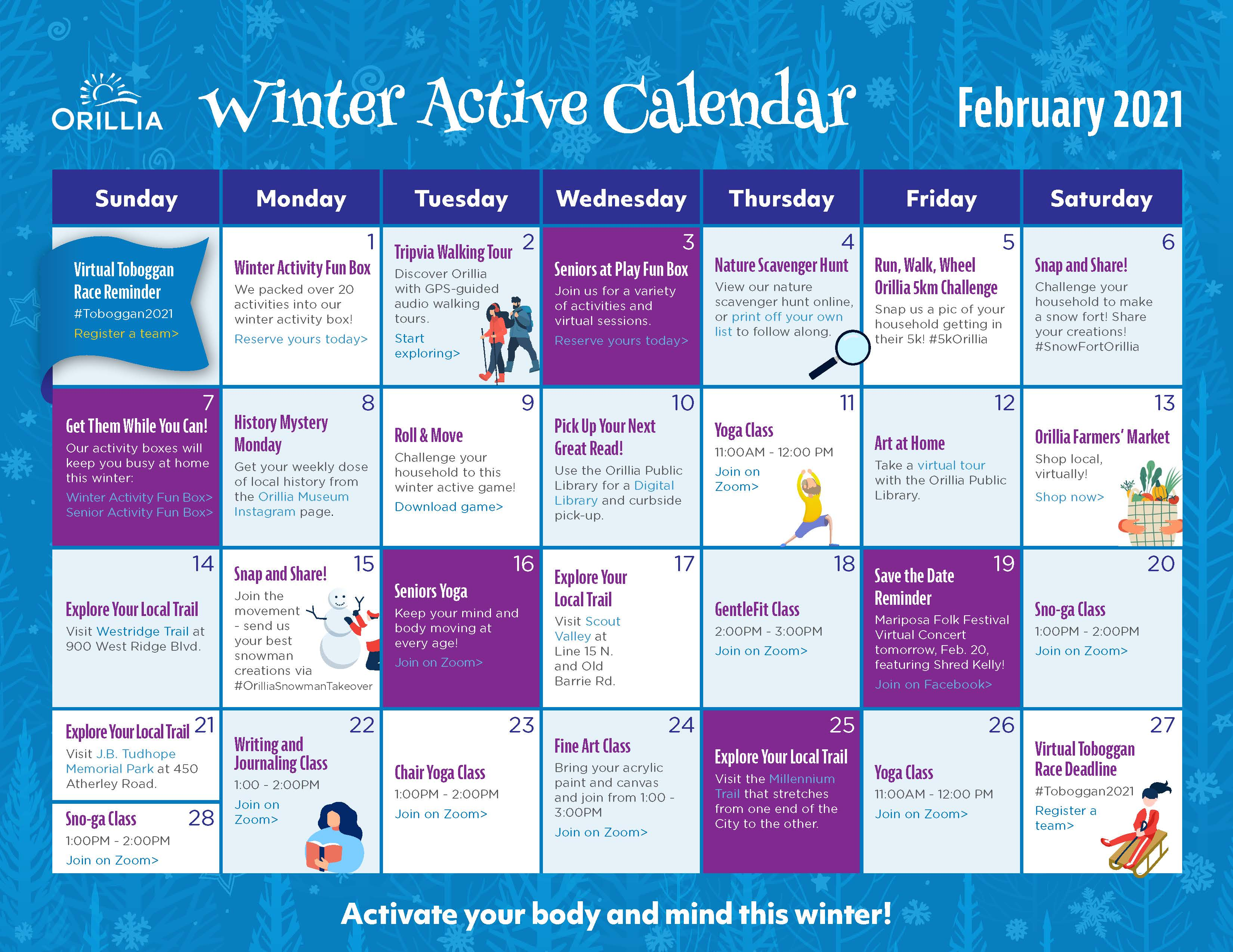 Winter Activity Calendar