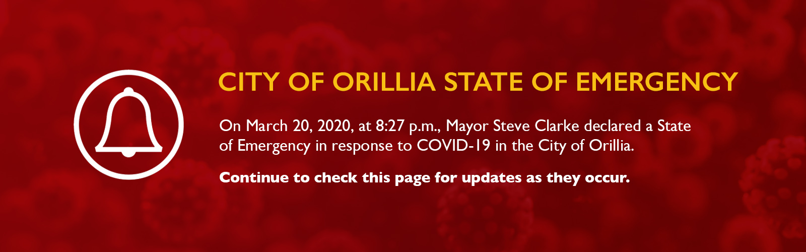 City of Orillia State of Emergency