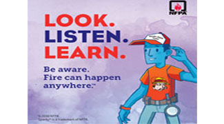 Fire Prevention Week 2018. Look. Listen. Learn