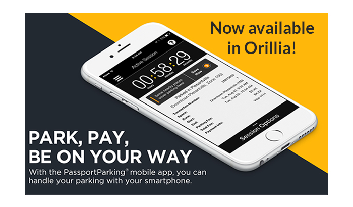 PassportParking App is now available in Orillia.