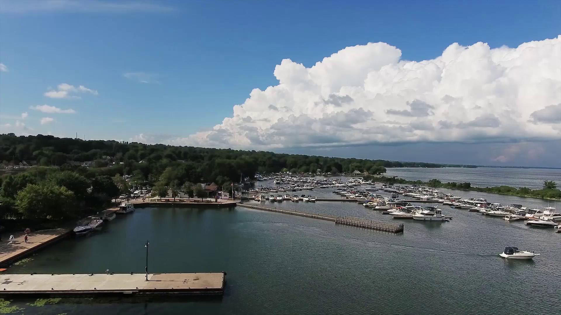 Overhead view of the Port of Orillia
