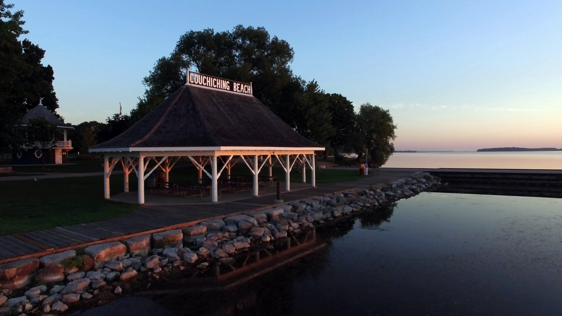 Summer by the water at the Pavilion at Couchiching Beach Park